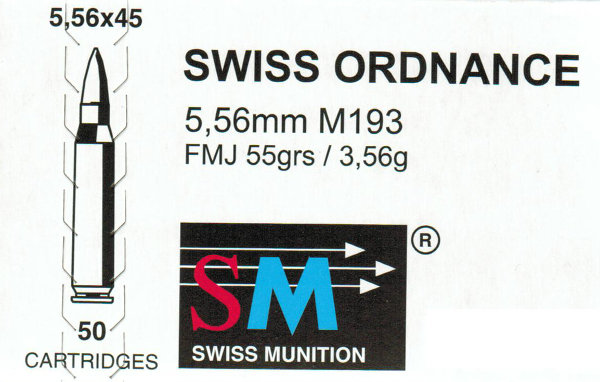 SWISS ORDNANCE, Kaliber .223 Remington