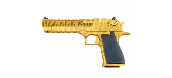 Magnum Research Desert Eagle, Mark XIX-2 (USA/2015), Kal. .50AE / .44 oder .357 Magnum, Titanium Gold with Tiger Stripes, 6'' Lauf